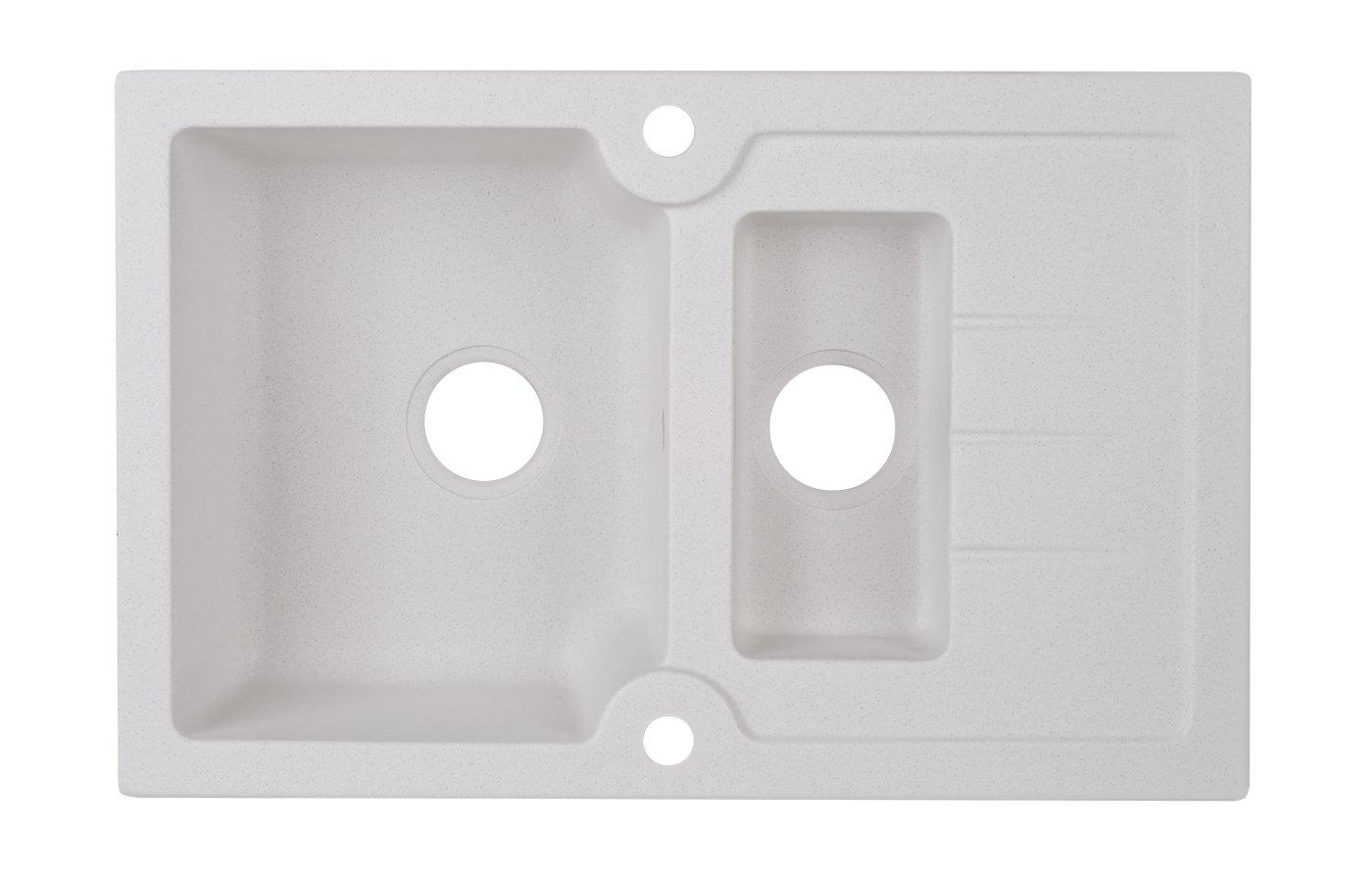 Кухонная мойка Kuppersberg MODENA 1,5B1D WHITE ALABAS