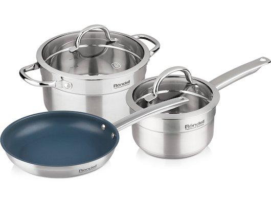 Набор посуды  Rondell RDS-138 CREATIVE 5 пр: кастр с/кр 24 (5.4 л) ковш с/кр 16 (1.5 л) сковородка 24 см