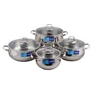 Фото Набор посуды  KORKMAZ A1626 Набор посуды (4 кастрюли с крышками) Mona 8 pcs.
