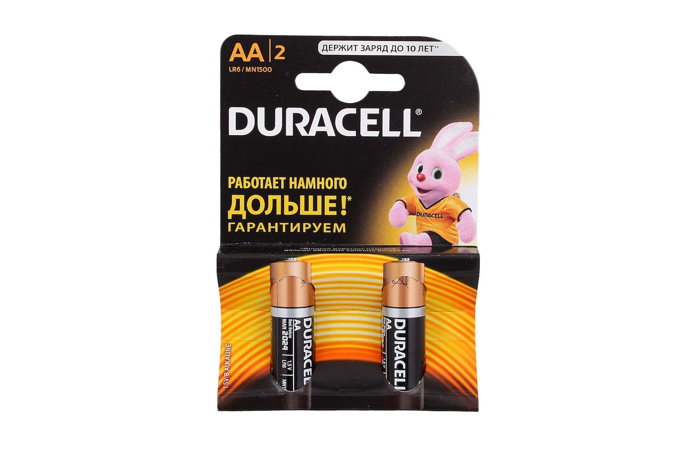 Батарейка Duracell Basic AA 2шт. LR6/2BL