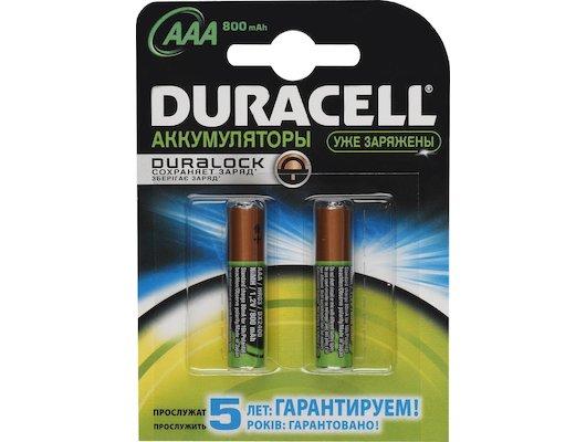 Аккумулятор Duracell AAA 850mAh Ni-Mh 2шт. (HR03-2BL)