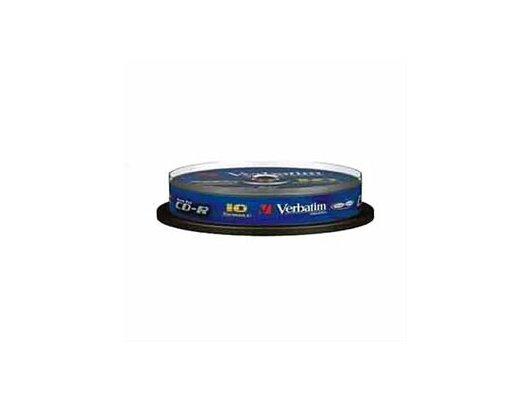 CD-диск Диск CD-R 700Mb Verbatim 52x 10шт. Cake Box 43437