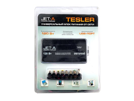 Сетевой адаптер для ноутбука JetA Tesler от сети (JA-PA8) 120Вт Универсальный блок питания