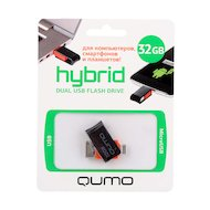 Флеш-диск USB 2.0 QUMO 32GB Hybrid MicroUSB