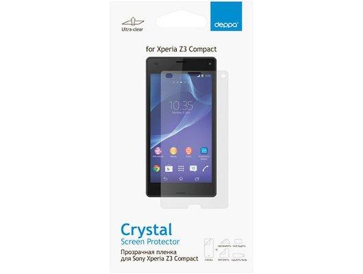 Стекло Deppa пленка для Sony Xperia Z3 Compact прозрачная
