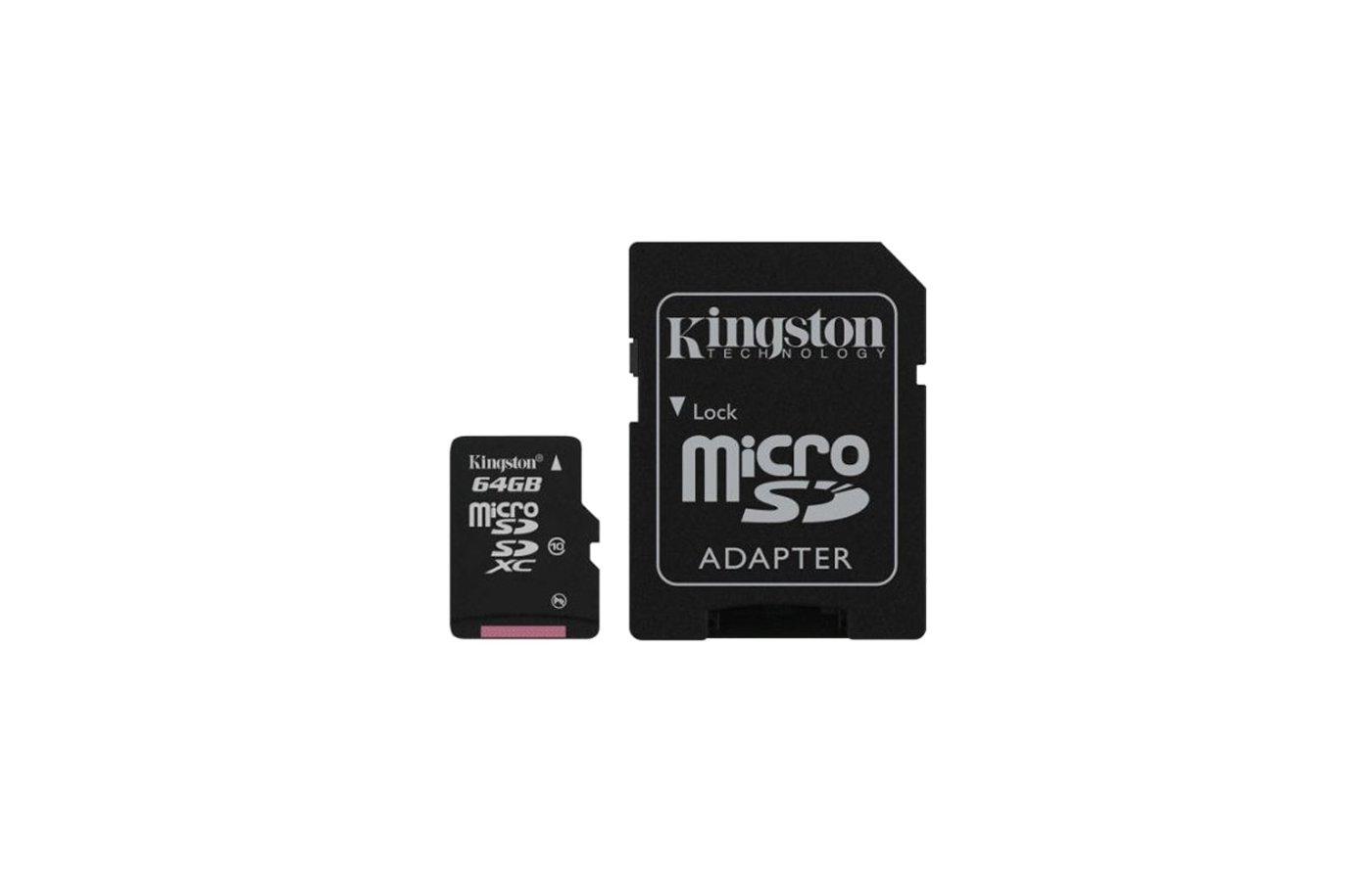 Карта памяти Kingston microSDXC 64Gb Class 10 + адаптер (SDCA10/64GB)