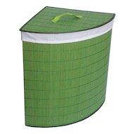 Фото Корзины и контейнеры РЫЖИЙ КОТ BLB-07-G Корзина для белья бамбук цвет - салатовый р-р 35x35x50см