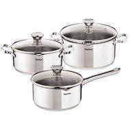 Набор посуды TEFAL A705S374 DUETTO 3 предмета (нерж сталь)
