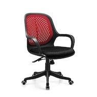EXCOMP OP-S2807 RED кресло / ткань+сетка / красный