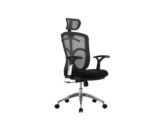 EXCOMP OP-A8501-1 кресло / ткань+сетка / черный