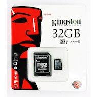 Фото Карта памяти Kingston microSDHC 32Gb Class 10 + адаптер (SDC10/32GB)