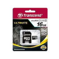 Карта памяти Transcend microSDHC 16Gb Class 10 + адаптер (TS16GUSDHC10)