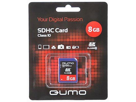 Карта памяти QUMO SDHC 8Gb Class 10
