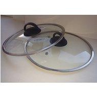 Фото крышка до 22 см HELPER 4550 Д22см стекл.широкий метал.обод. пароотвод пласт. ручка
