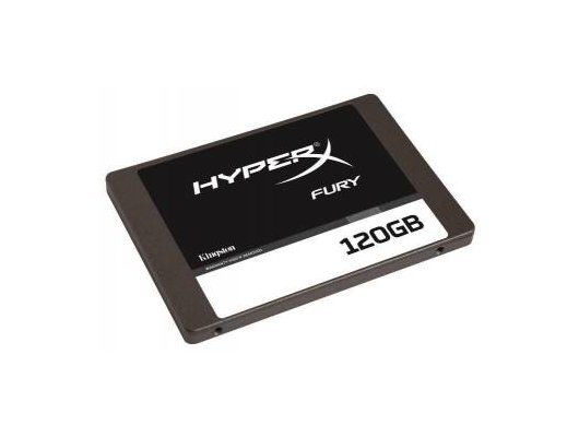 "SSD жесткий диск Kingston SATA-III 120Gb SHFS37A/120G 2.5"" w510Mb/s Hyper X Fury"