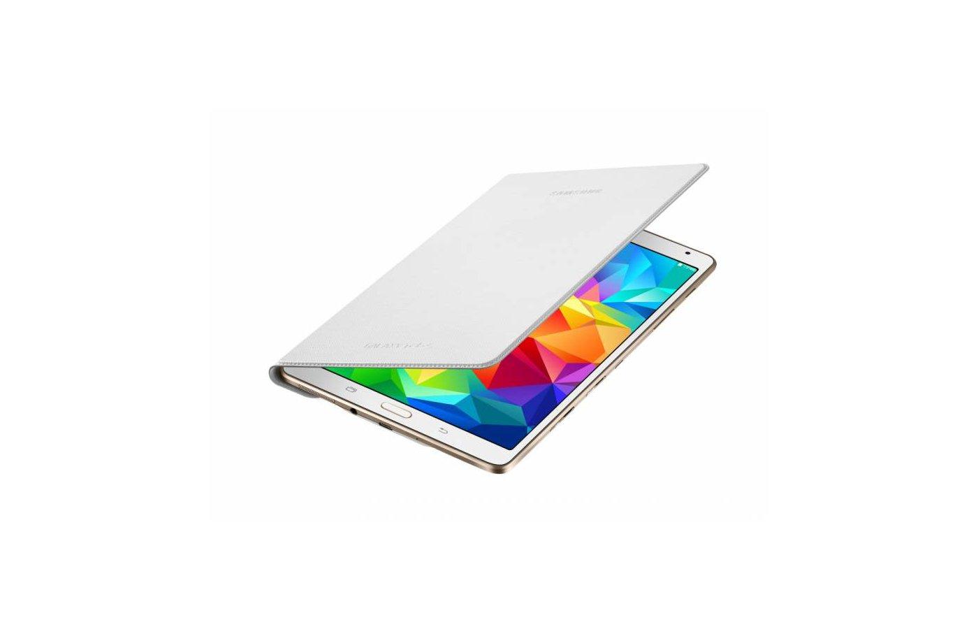 Чехол для планшетного ПК Samsung для Galaxy Tab S 8.4 SM-T700 Simple Cover (EF-DT700BWEGRU) пластик белый