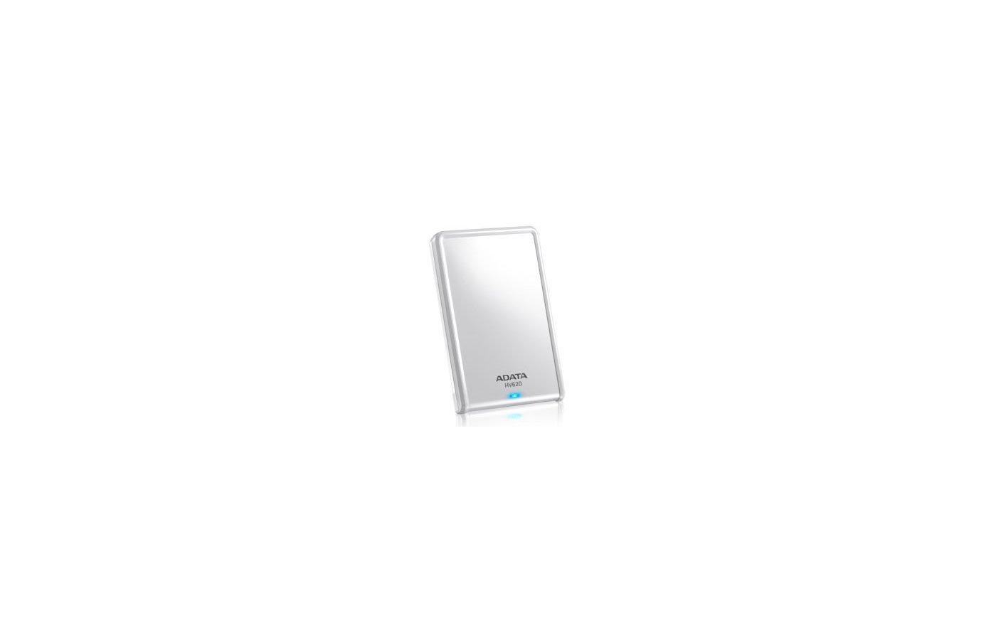 "Внешний жесткий диск A-Data USB 3.0 1Tb AHV620-1TU3-CWH 2.5"" белый"