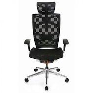 Бюрократ 811/Black кресло руководителя, черный, клетка сетка, крестовина алюминий