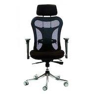 Фото Бюрократ CH-999ASX кресло руководителя, спинка сетка эргономичная, черный, крестовина хром