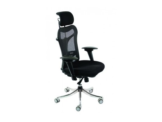 Бюрократ CH-999ASX кресло руководителя, спинка сетка эргономичная, черный, крестовина хром