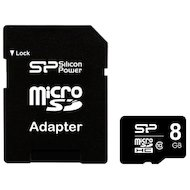 Карта памяти Silicon Power microSDHC 8Gb Class 10 + адаптер