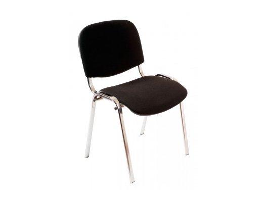 Бюрократ стул Виси хром/черный черный C-11 каркас хром
