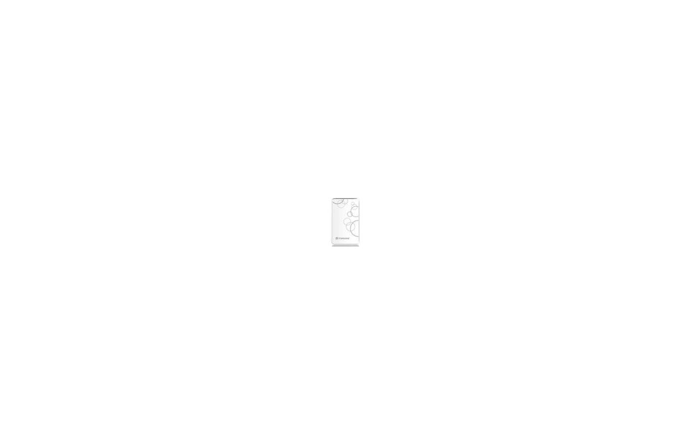 """Внешний жесткий диск Transcend USB 3.0 1Tb TS1TSJ25D3W StoreJet 25D3 2.5"""" белый"""