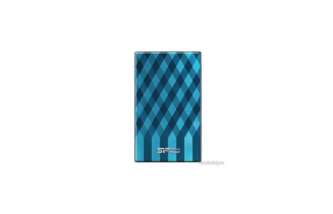 """Внешний жесткий диск Silicon Power USB 3.0 1Tb SP010TBPHDA80S3B 2.5"""" голубой"""