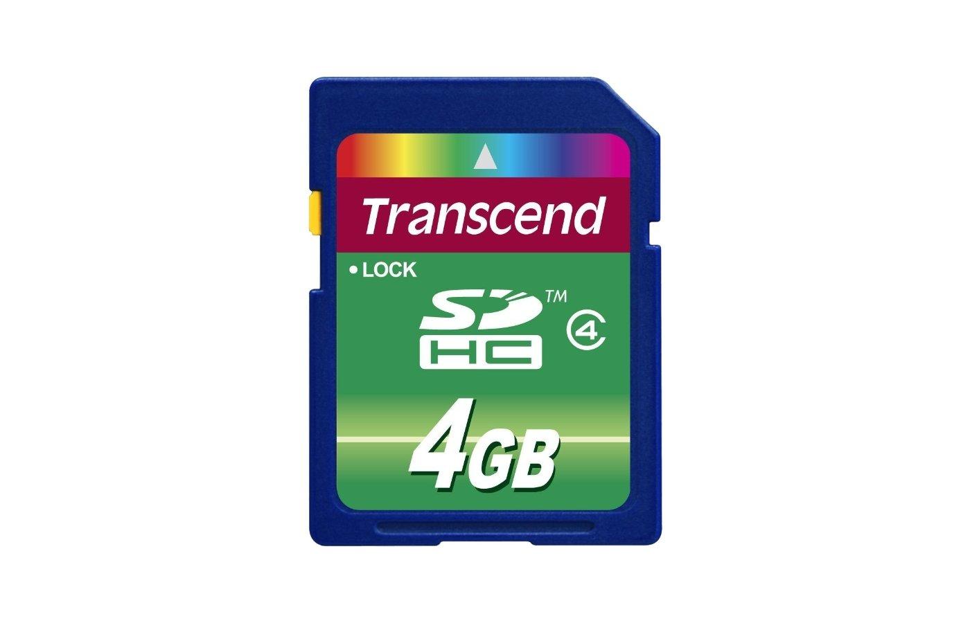 Карта памяти Transcend SDHC 4Gb Class 4 (TS4GSDHC4)