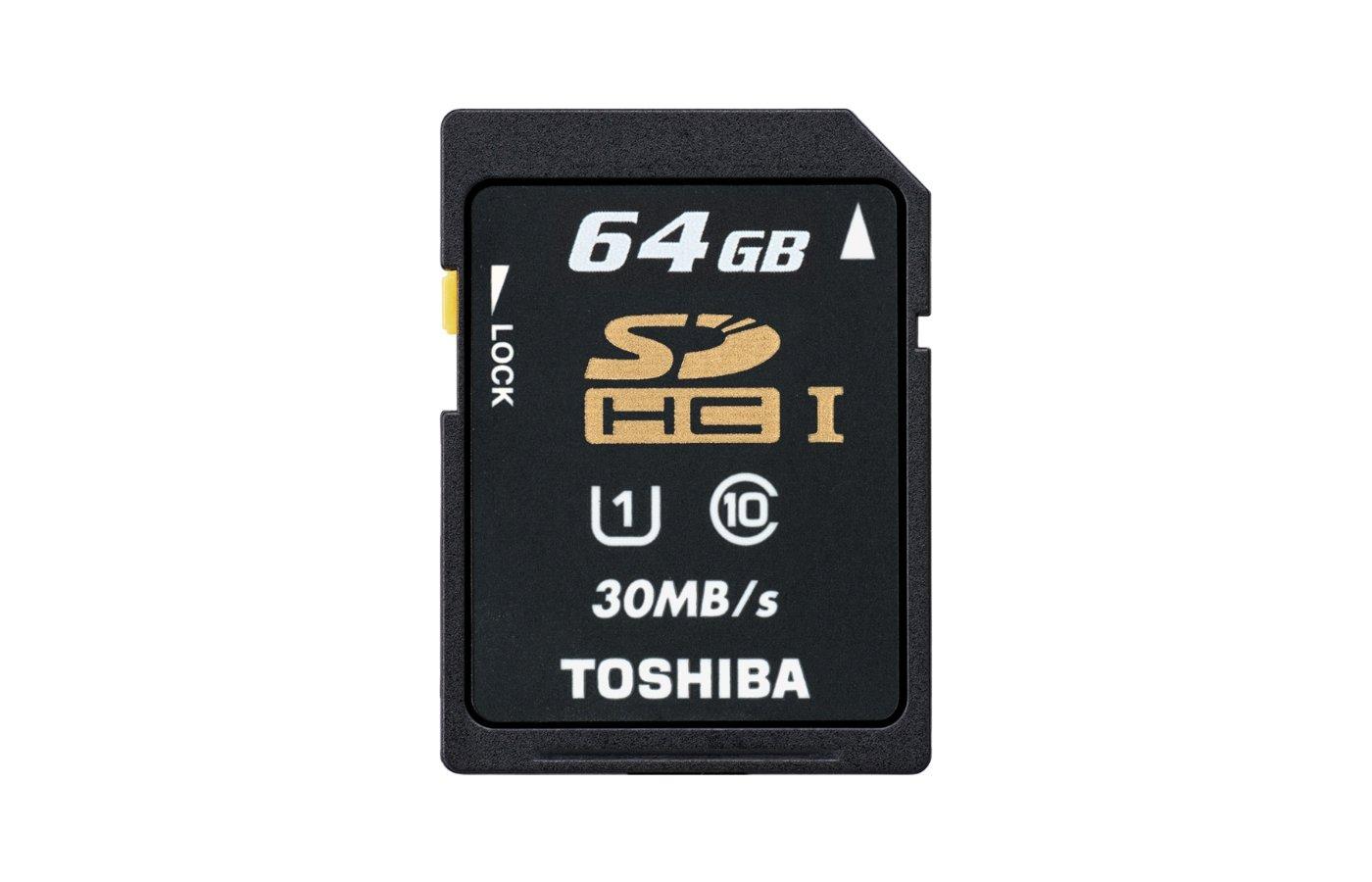Карта памяти Toshiba SDXC 64Gb Class 10 SD-T064UHS1 (BL5)