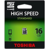 Фото Карта памяти Toshiba microSDHC 16Gb Class 4 SD-C16GJ (BL5)