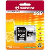 Карта памяти Transcend microSD 2Gb + адаптер (TS2GUSD)
