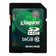 Карта памяти Kingston SDHC 16Gb Class 10 (SD10V/16GB)