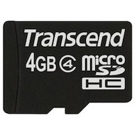Карта памяти Transcend microSDHC 4Gb Class 4 (TS4GUSDC4)