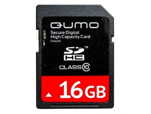 Карта памяти QUMO SDHC 16Gb Class 10