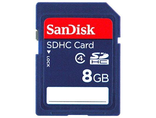 Карта памяти SanDisk SDHC 8Gb Class 4 (SDSDB-008G-B35)