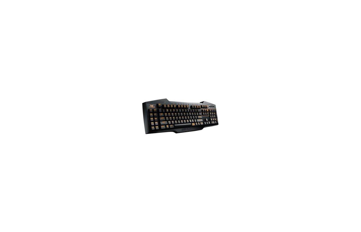 Клавиатура проводная Asus Strix Tactic Pro черный USB Multimedia Gamer Ergo для ноутбука Touch LED