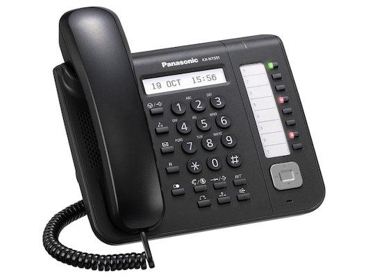 IP Телефон PANASONIC KX-NT551RU-B черный
