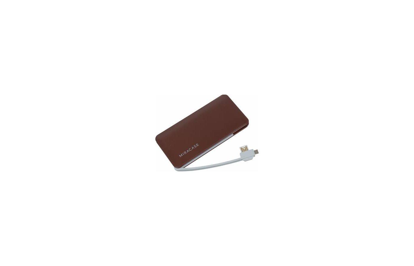 Портативный аккумулятор Miracase MACC-829 Li-Pol 6000mAh 2A коричневый