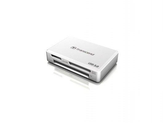 Картридер Trancend TS-RDF8W white SDHC/SDXC/CF/MS/M2/Duo/MSXC USB3.0