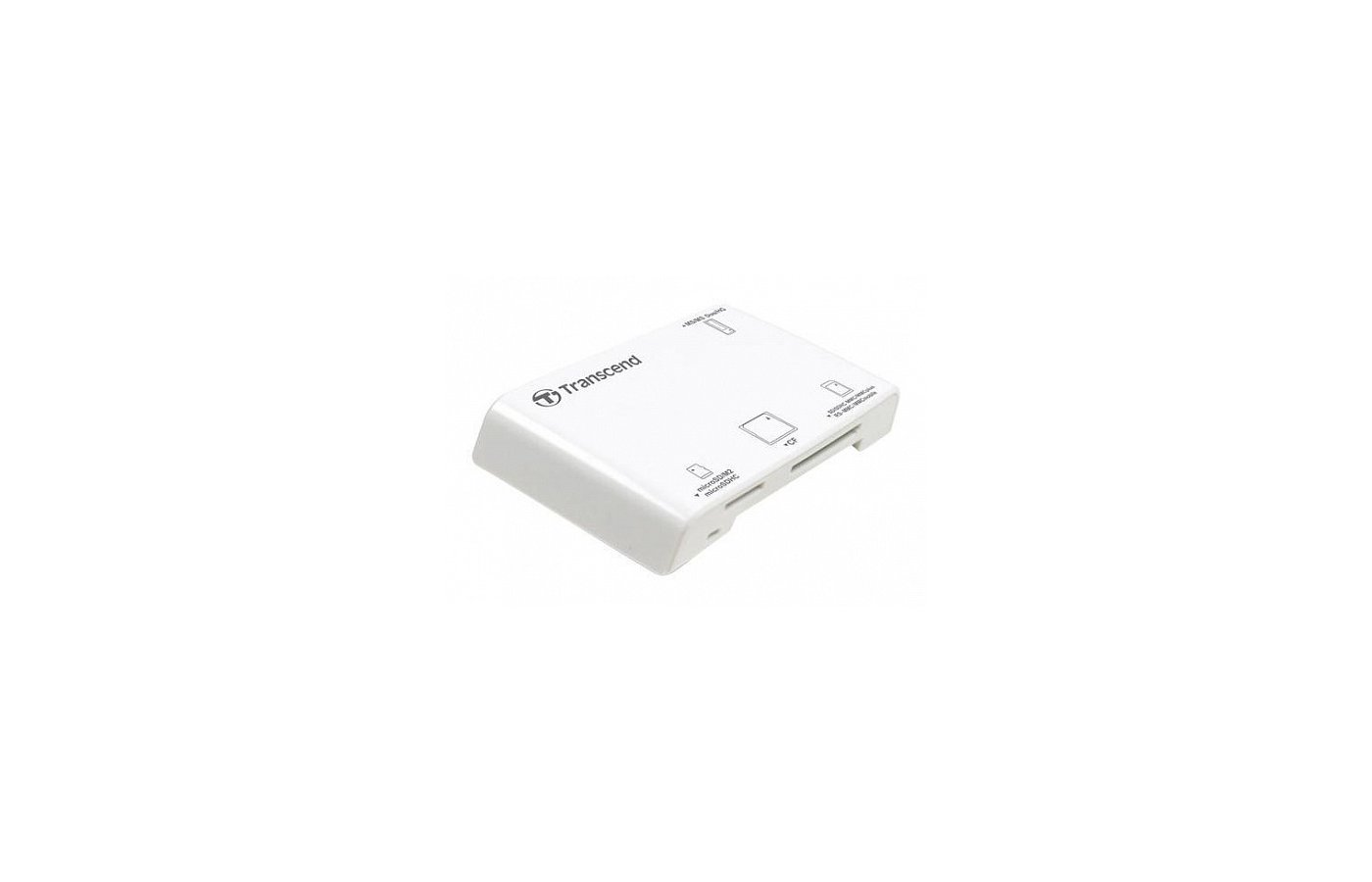 Картридер Transcend All in 1 Multi White USB 2.0 Support SDHC (TS-RDP8W)