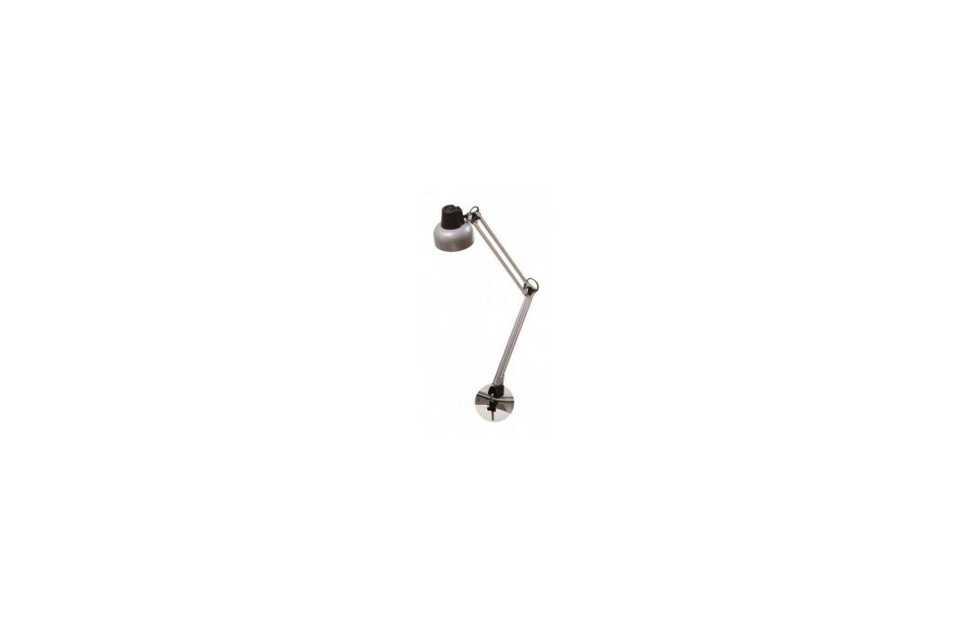 Светильник настольный Трансвит Beta/Gr на струбцине лампа накаливания E27 серый 60Вт