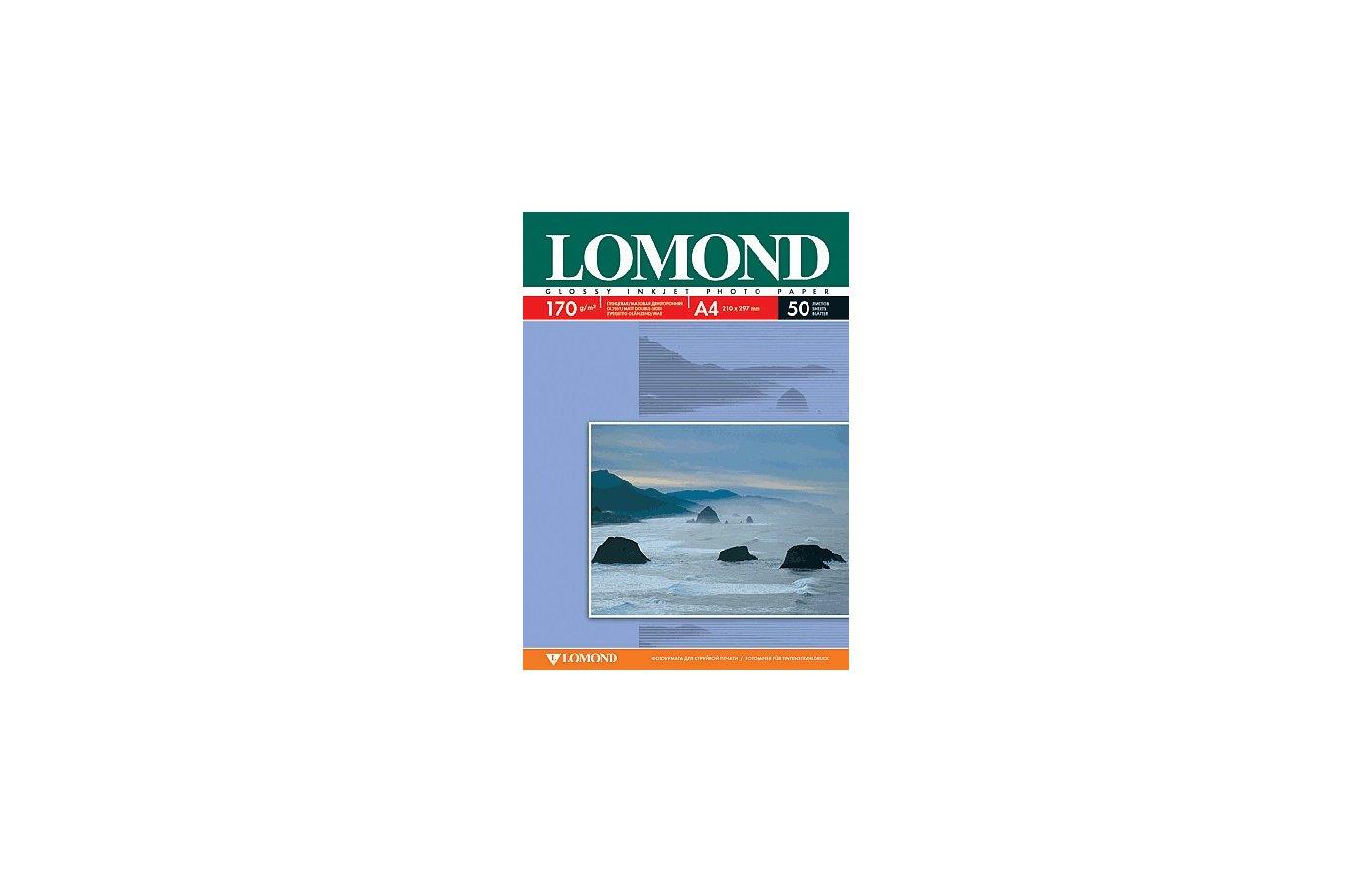 Фотобумага Lomond 0102135 A4/240г/м2/50л. Глянцевая