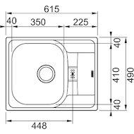 Фото Кухонная мойка FRANKE POLAR PXN 614-60 Вентиль 3.5 + комплект для монтажа