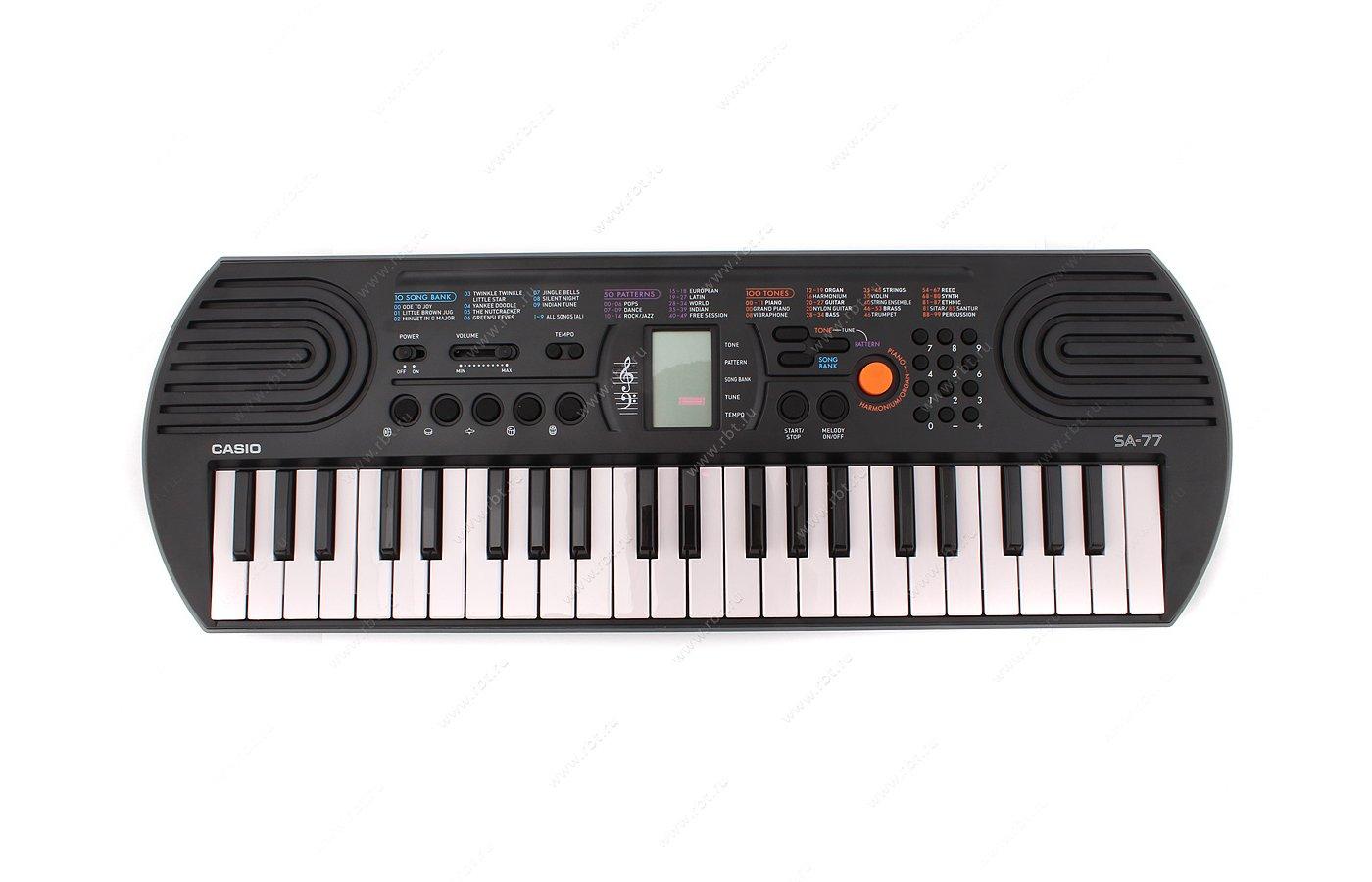 Музыкальный инструмент CASIO SA-77 синтезатор детский
