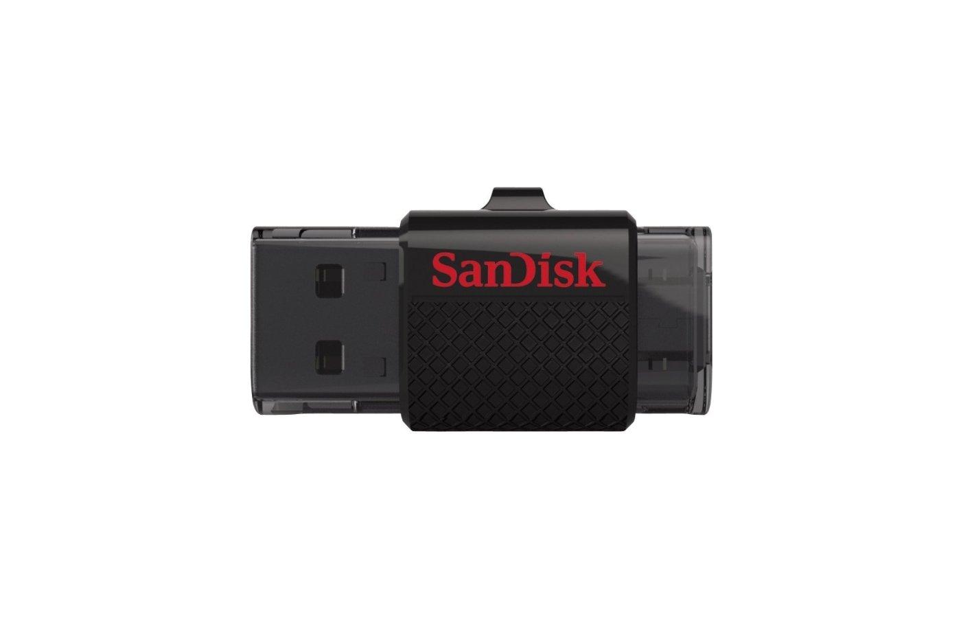 Флеш-диск USB 2.0 Sandisk 64Gb Ultra Dual SDDD-064G-G46 черный OTG + microUSB