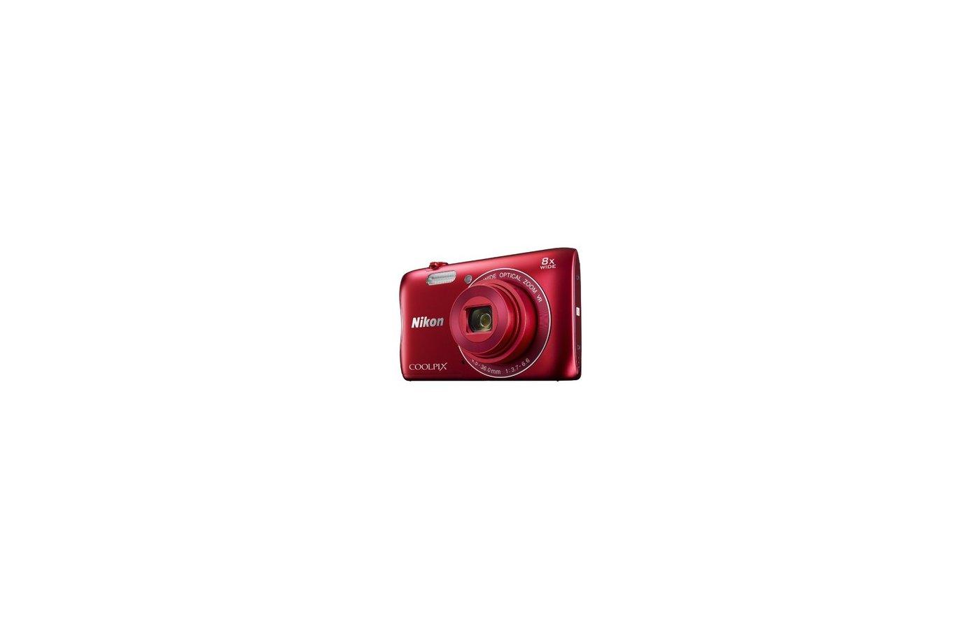 Фотоаппарат компактный Nikon Coolpix S3700 red