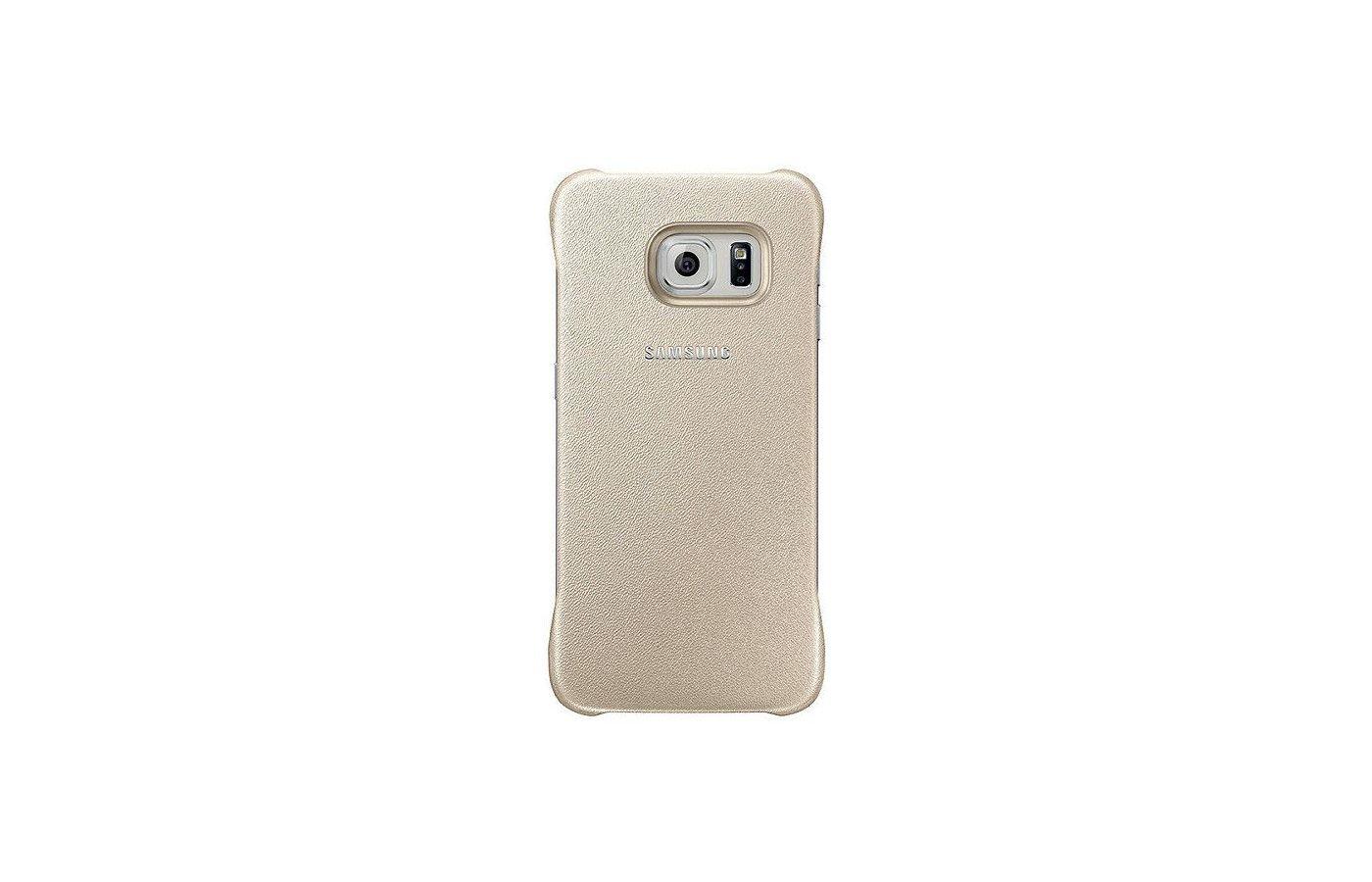 Чехол Samsung Protective Cover для Galaxy S6 Edge (SM-G925) (EF-YG925BFEGRU) gold