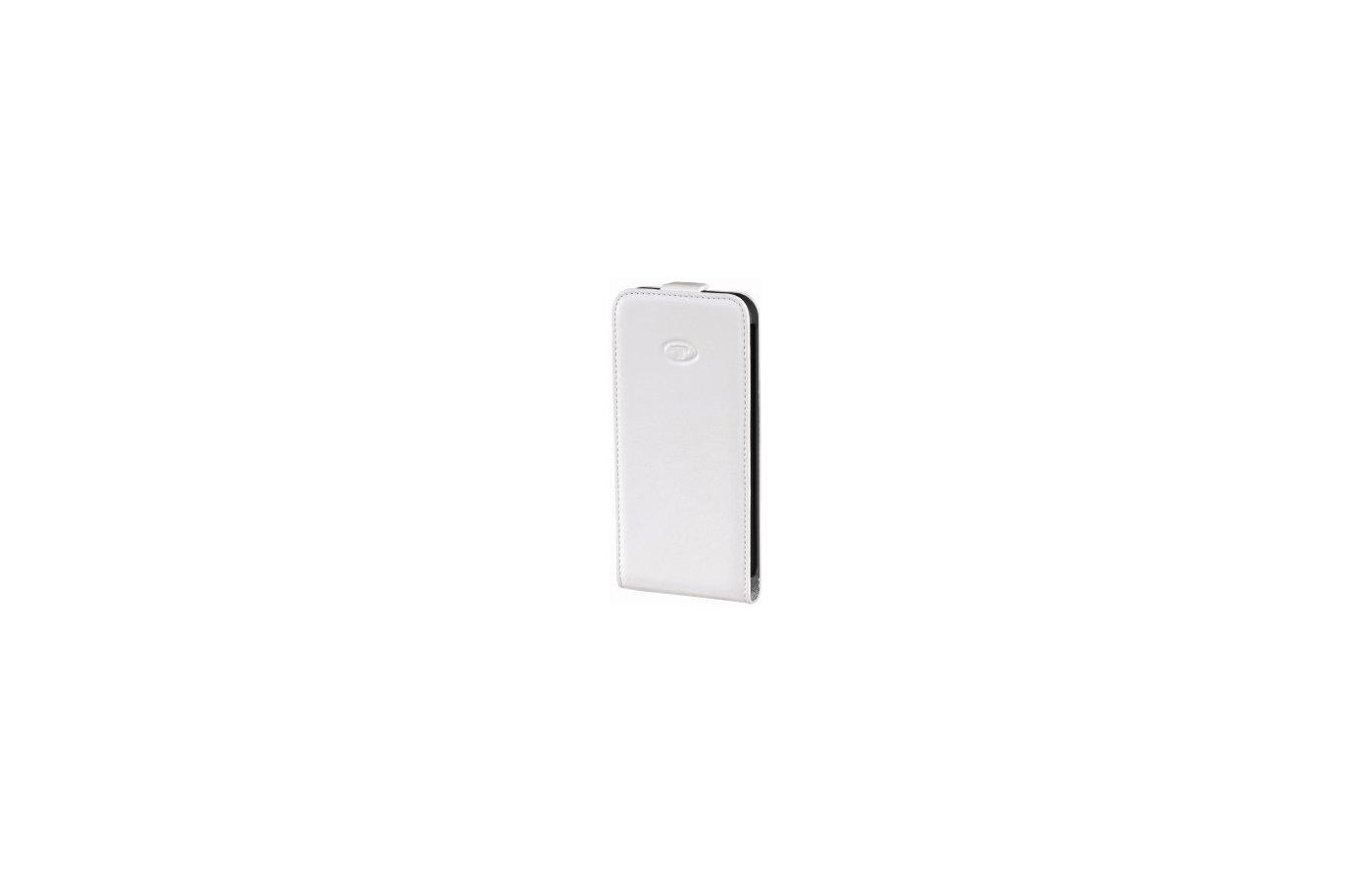 Чехол Hama для Galaxy S4 Flap белый кожа (00122646)