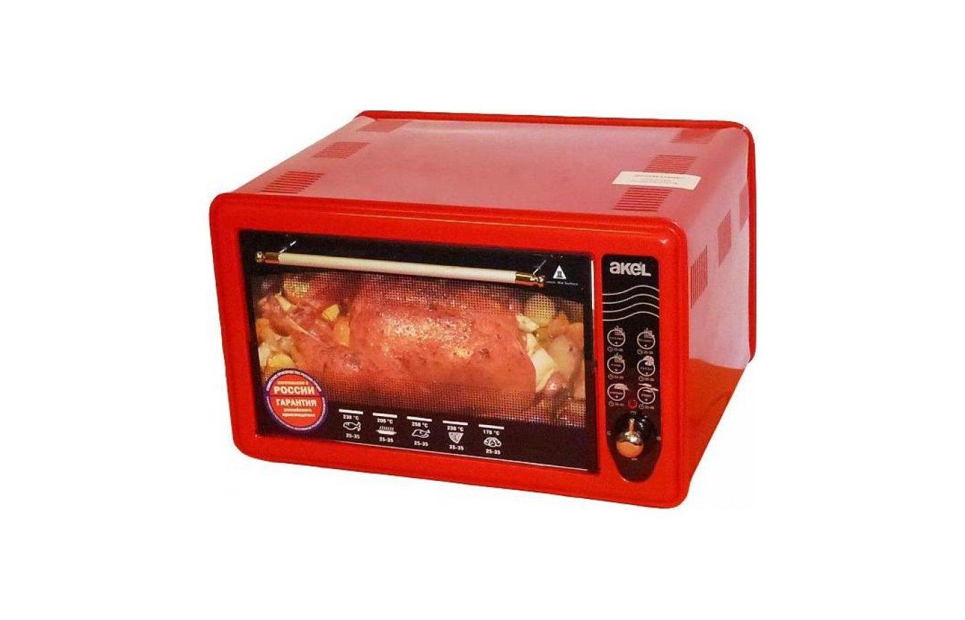 Электрическая мини-печь AKEL AF-710 (красная) (36л.)